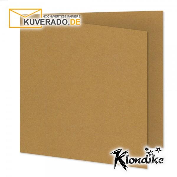 Artoz Klondike Karten in rotgold-metallic quadratisch