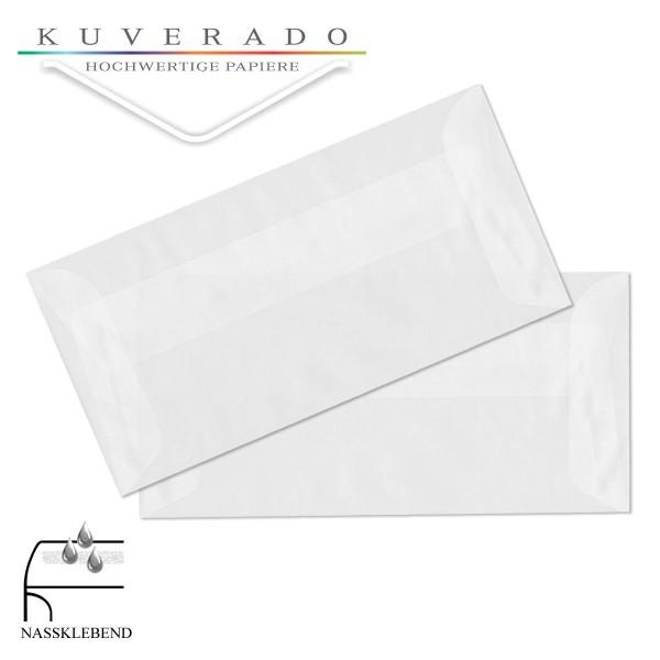 transparente Briefumschläge DIN lang in hochweiß