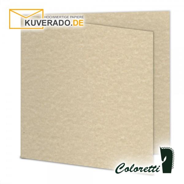 Saharabraun marmorierte Doppelkarten in quadratisch 220 g/qm von Coloretti