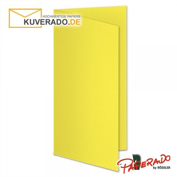 Paperado Karten in soleilgelb gelb DIN lang