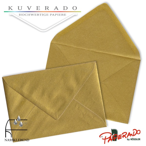 Paperado Briefumschläge in gold DIN C7