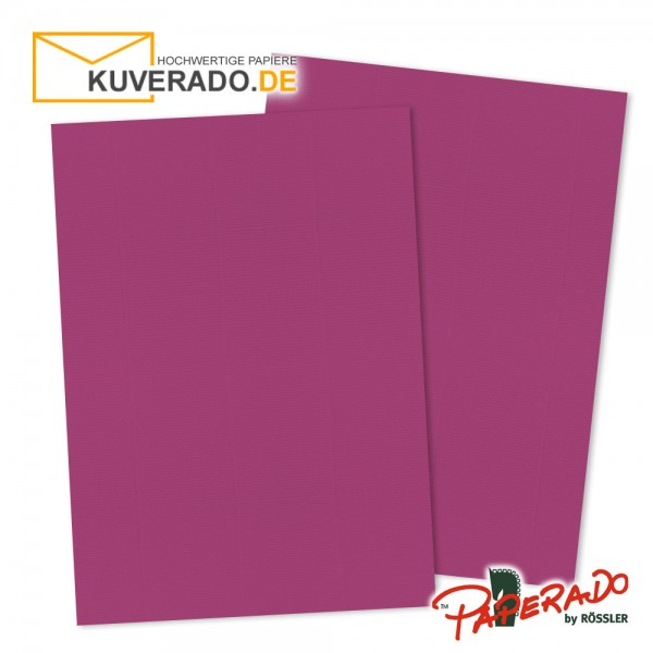 Paperado Briefkarton in amarena lila DIN A4 220 g/qm