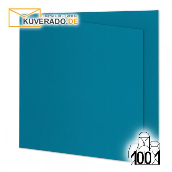 Artoz 1001 Faltkarten petrol-blau quadratisch 155x155 mm mit Wasserzeichen