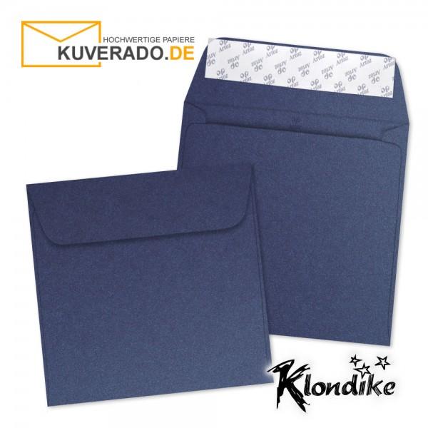 Artoz Klondike Briefumschlag in saphir-blau-metallic quadratisch