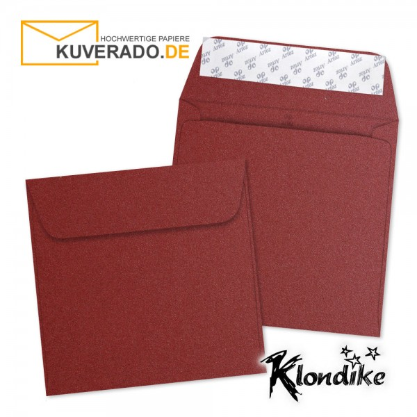 Artoz Klondike Briefumschlag in rubin-rot-metallic quadratisch