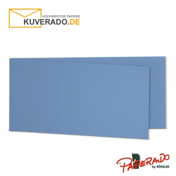 Paperado Karten in blau DIN lang Querformat