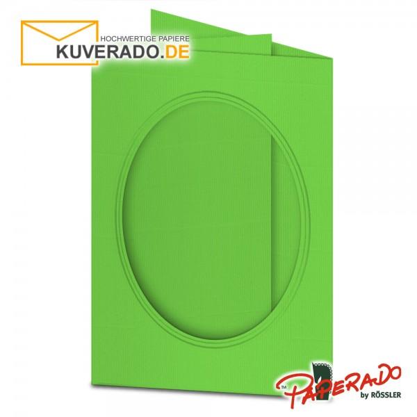 Paperado Passepartoutkarten mit ovalem Ausschnitt in apfelgrün DIN B6