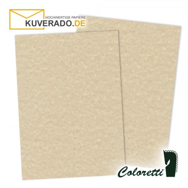 Beige marmoriertes Briefpapier in saharabraun 165 g/qm von Coloretti