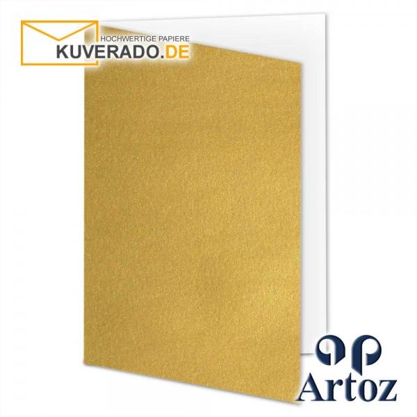 Artoz Mosaic metallic Faltkarten in gold DIN A5