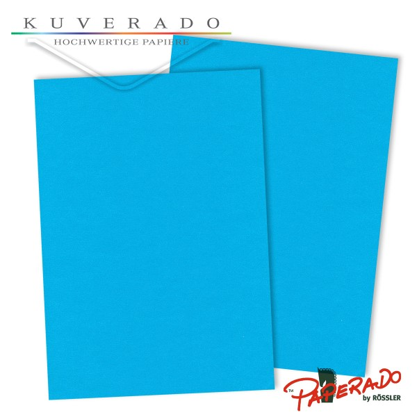 Paperado Karton pacific blau DIN A3
