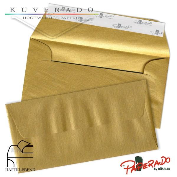 Paperado farbige Briefumschläge in gold DIN lang