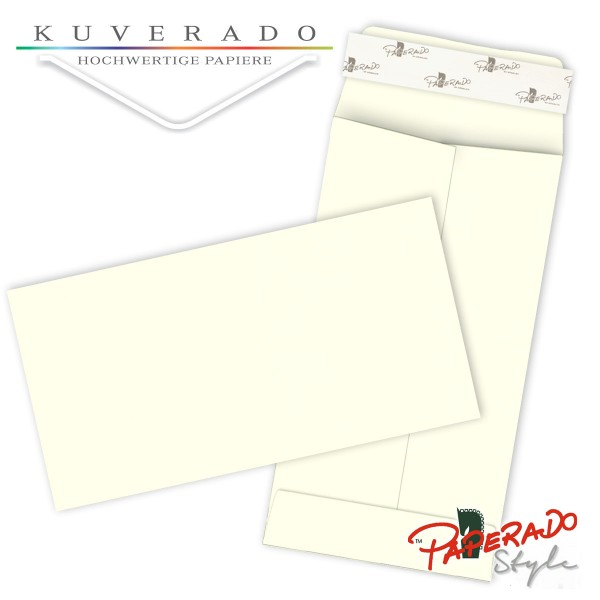 Paperado Style Briefumschläge ivory beige 114x224 mm