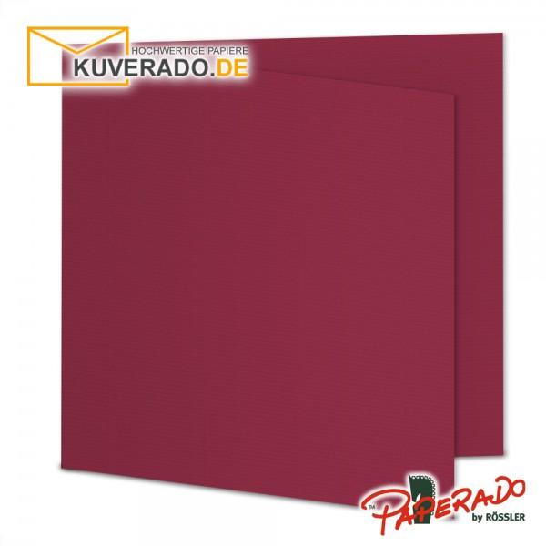 Paperado Karten in rosso rot quadratisch