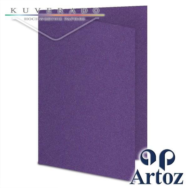 Artoz Klondike Karten in amethyst-metallic DIN A6