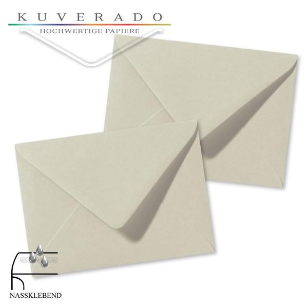 Graue Briefumschläge (delfingrau) im Format 110 x 156 mm