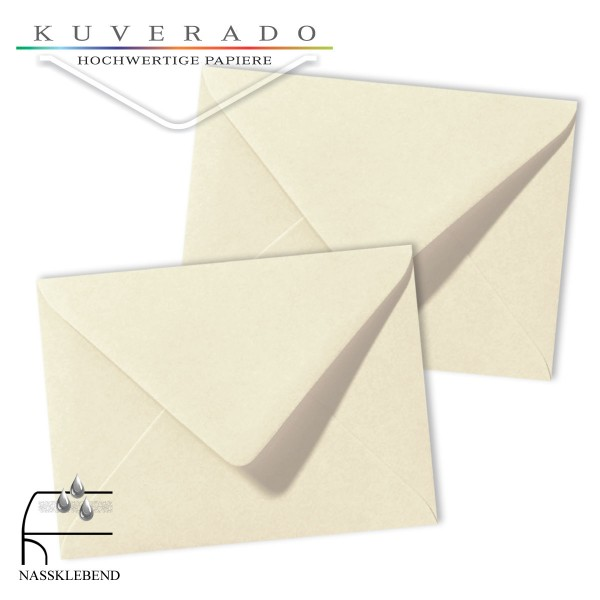 Beige Briefumschläge (Elfenbein) im Format 130 x 180 mm