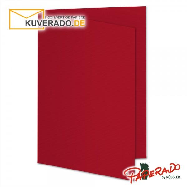 Paperado Karten in rot DIN A6