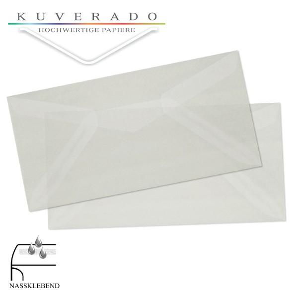 transparente Briefumschläge DIN lang nassklebend in weiss