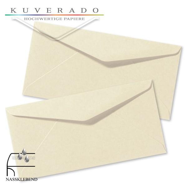 Beige Briefumschläge (Elfenbein) im Format DIN lang