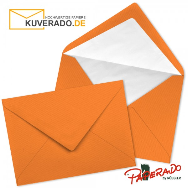 Paperado Briefumschläge in orange 157x225 mm