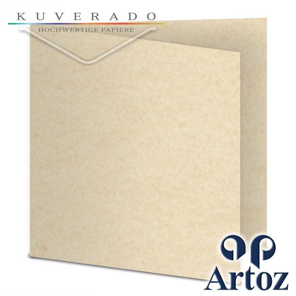 Artoz Rustik marmorierte Karten weiß quadratisch