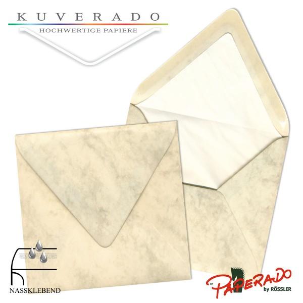Paperado quadratische Briefumschläge in chamois marmoriert 164x164 mm