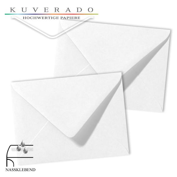 weiße Briefumschläge im Format 130 x 180 mm
