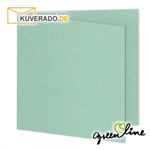 ARTOZ Greenline pastell   Recycling Faltkarten in misty-green quadratisch