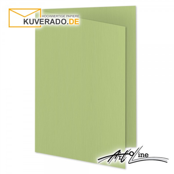 Artoz Artoline Karten/Doppelkarten in pistache-grün DIN A5