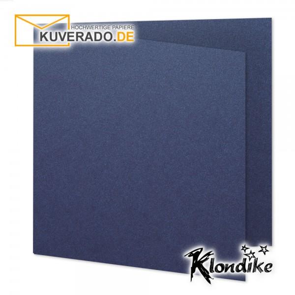 Artoz Klondike Karten in saphir-blau-metallic quadratisch