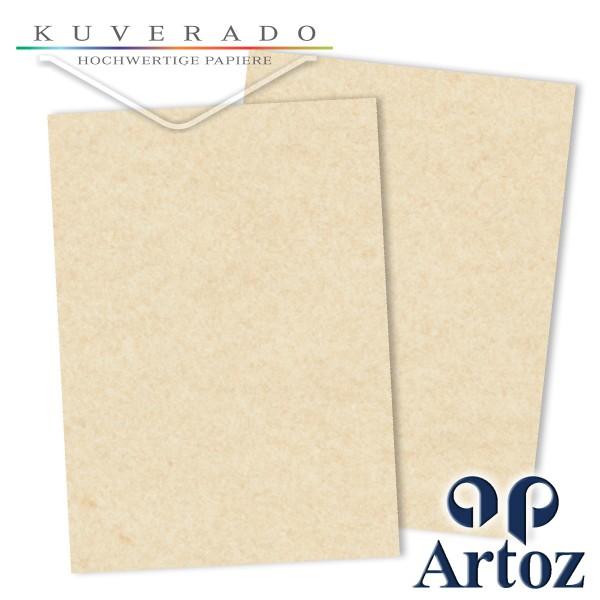 Artoz Rustik marmorierter Briefkarton weiß DIN A4