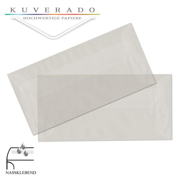 transparente Briefumschläge DIN lang in weiß
