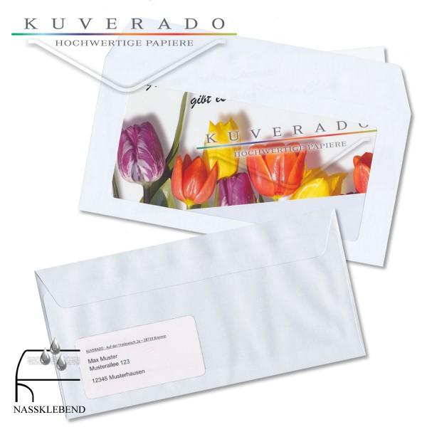 Werbefensterhülle / Briefumschläge mit Panoramafenster in DIN C6/5