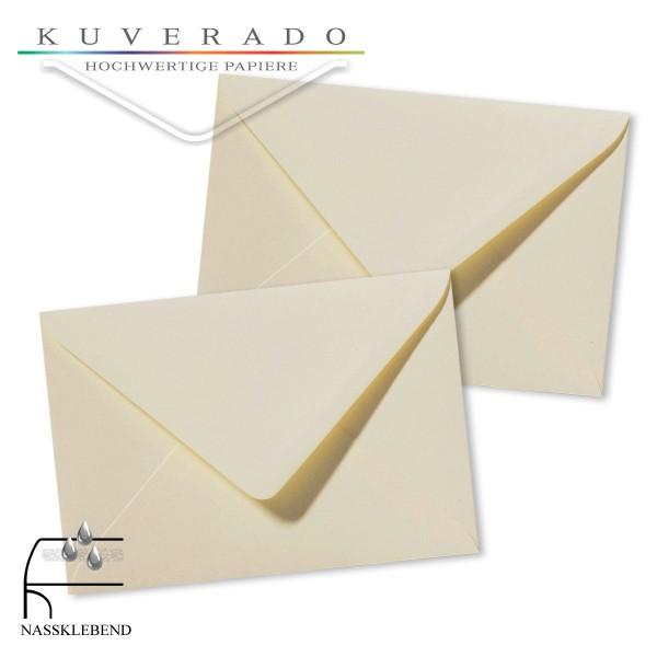 beige Briefumschläge in creme im Format 120 x 180 mm genarbt
