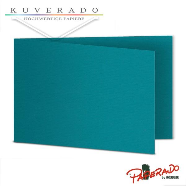 Paperado Karten in oceano blau DIN B6 Querformat