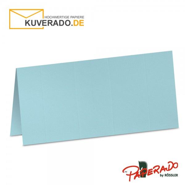 Paperado Tischkarten in aqua-blau