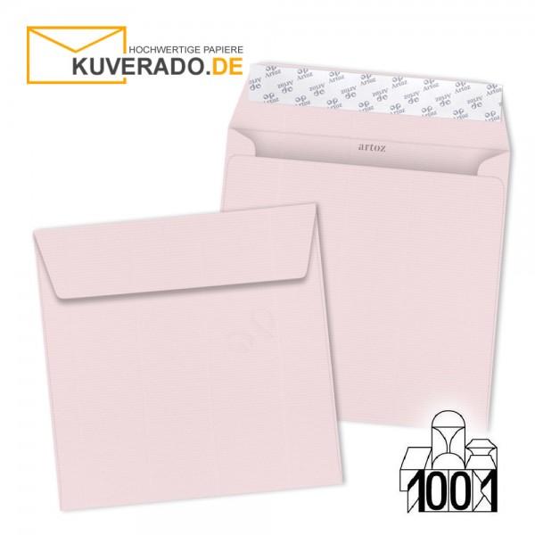 Artoz Briefumschläge zartrosa quadratisch 160x160 mm
