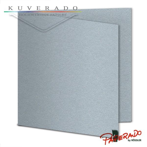 Paperado Karten in silber quadratisch