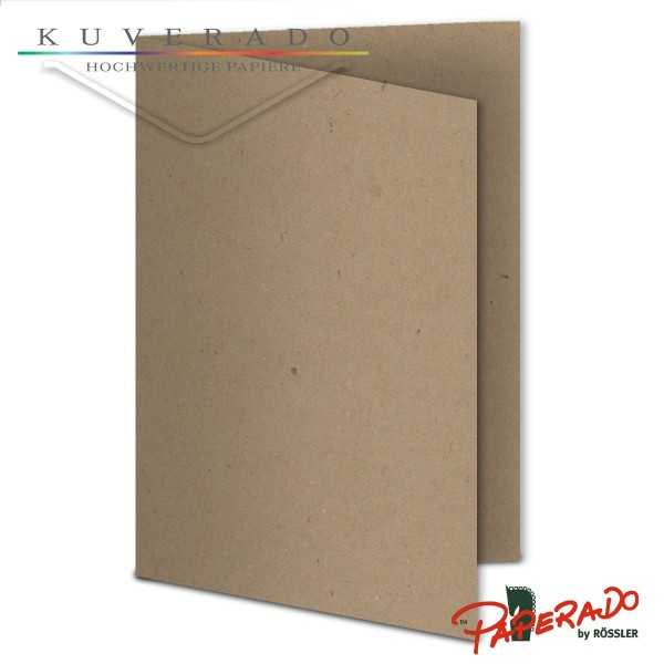 Paperado Karten aus braunem Kraftpapier DIN A6