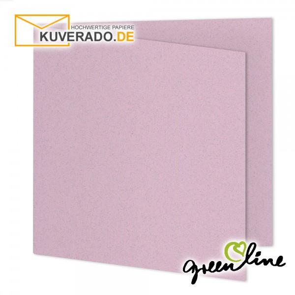 ARTOZ Greenline pastell   Recycling Faltkarten in misty-rose quadratisch