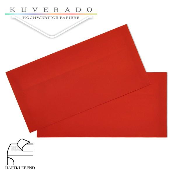 transparente Briefumschläge DIN lang in rot