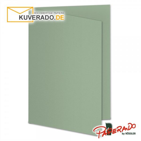 Paperado Faltkarten in eukalyptus DIN A6 Hochformat