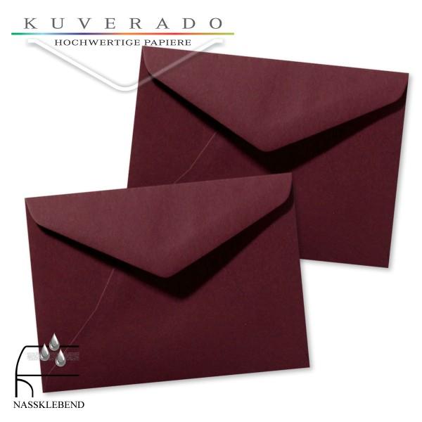 rote Briefumschläge (dunkelrot) im Format 130 x 180 mm