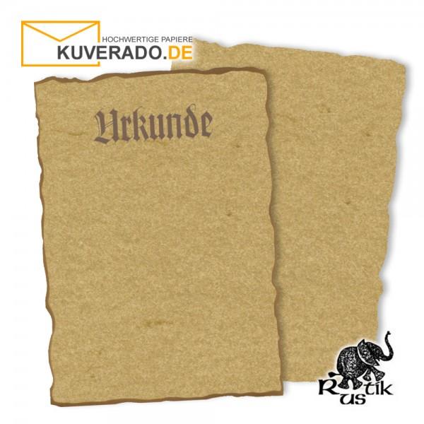 Artoz Rustik - Urkundenpapier DIN A4 chamois marmoriert