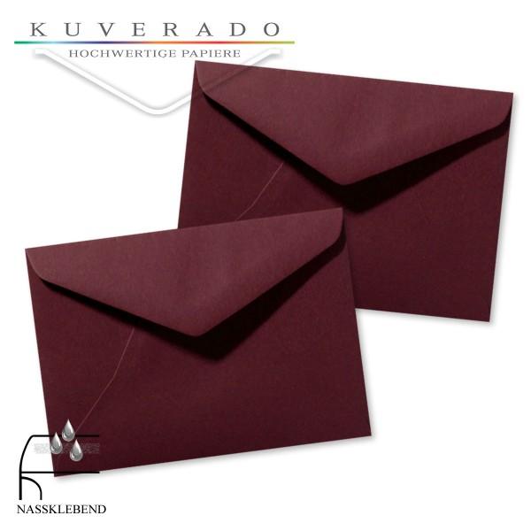 Rote Briefumschläge (dunkelrot) im Format 110 x 156 mm
