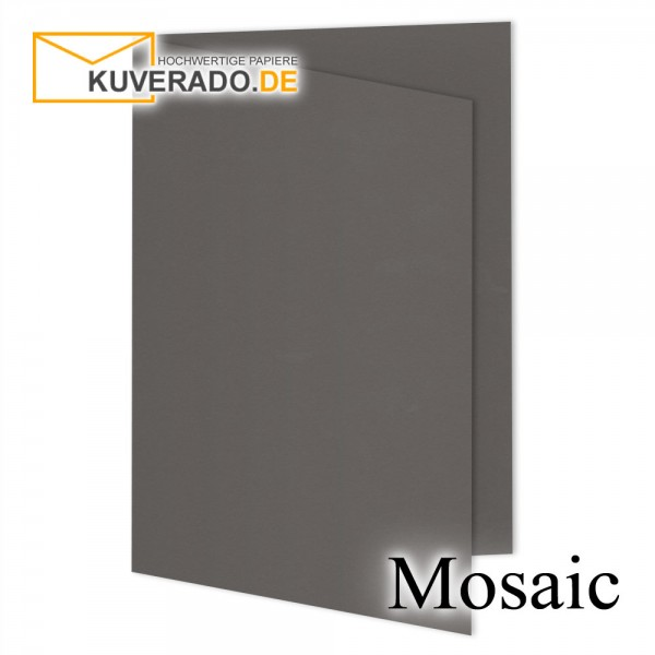 Artoz Mosaic graphitgraue Doppelkarten DIN A5