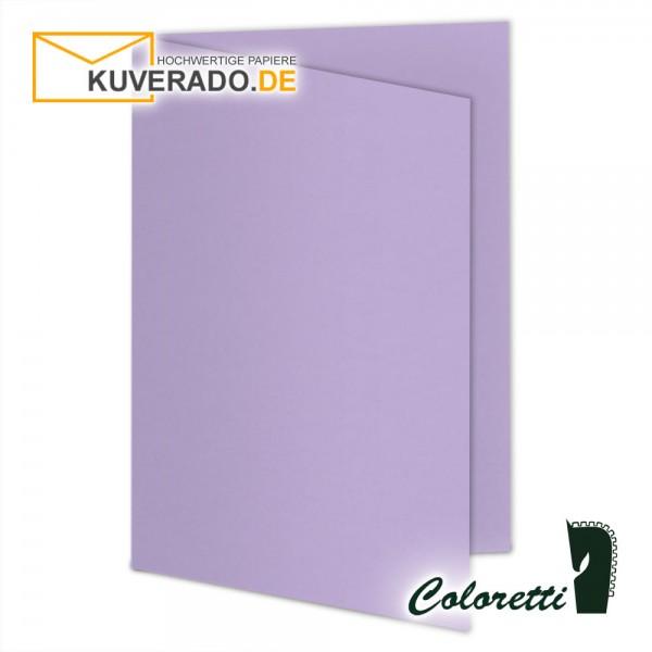 Lila Doppelkarten in lavendel 220 g/qm von Coloretti