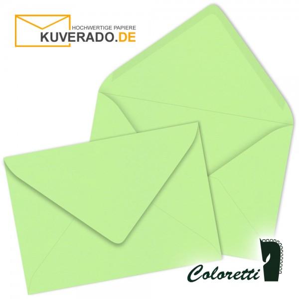 Grüne DIN C7 Briefumschläge in peppermint von Coloretti