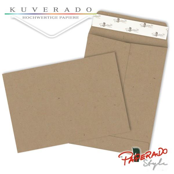Paperado Style Briefumschläge aus braunem Kraftpapier 134x184 mm