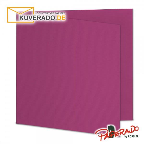 Paperado Karten in amarena lila quadratisch